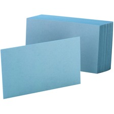 OXF 7420BLU Oxford Colored Blank Index Cards OXF7420BLU