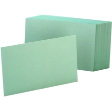 OXF 7420GRE Oxford Colored Blank Index Cards OXF7420GRE