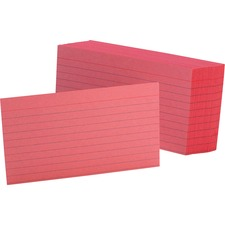 OXF 7321CHE Oxford Colored Ruled Index Cards OXF7321CHE