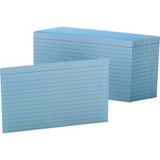 OXF 7421BLU Oxford Colored Ruled Index Cards OXF7421BLU
