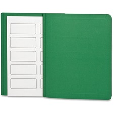 "Oxford Letter Recycled Report Cover - 8 1/2"" x 11"" - 100 Sheet Capacity - Leatherette Paper - Green - 10% Recycled - 25 / Box"