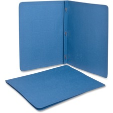 "Oxford Letter Recycled Report Cover - 8 1/2"" x 11"" - 100 Sheet Capacity - Stock, Stock, Embossed Paper, Fiber - Light Blue - 10% Recycled - 25 / Box"
