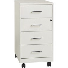 "LLR 19537 Lorell 4-drawer 26-1/2"" Mobile Storage Cabinet LLR19537"