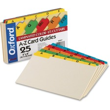 OXF 05827 Oxford A-Z Laminated Tab Card Guides OXF05827