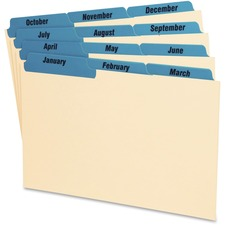 OXF 05813 Oxford Laminated Tab Index Card Guides OXF05813
