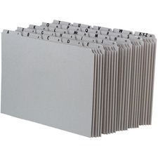 PFX PN925 Pendaflex Gray Alphabetical File Guide Set PFXPN925