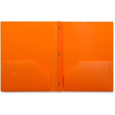 LIO92310ORBX - Lion 2-Pocket Plastic Folder with Fasteners, Orange