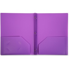 LIO92310PRBX - Lion 2-Pocket Plastic Folder with Fasteners, Purple