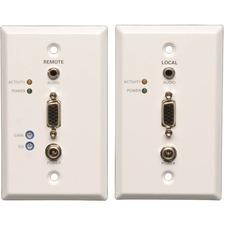 Tripp Lite VGA w/ Audio over Cat5/Cat6 Video Extender Kit Wallplate Transmitter & Receiver