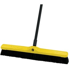 """Rubbermaid Brooms & Sweepers - Tampico Bristle - 24"""" (609.60 mm) Overall Length - 12 Pack - Black"""