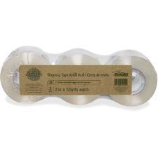 "Bandit Earth Hugger Shipping Tape Rolls - 55 yd (50.3 m) Length x 2"" (50.8 mm) Width - Plastic - 3 / Pack - Clear"