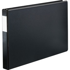 "Cardinal XtraLife Slant D-ring Binder - 1"" Binder Capacity - Tabloid - 11"" x 17"" Sheet Size - 80 Sheet Capacity - D-Ring Fastener(s) - 2 Internal Pocket(s) - Chipboard - Black - Non-stick, Durable, Crack Resistant, Sturdy, Locking Ring - 1 Each"