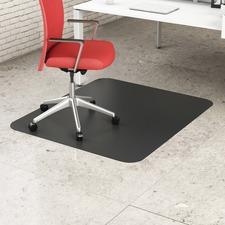 """Deflecto Black Rectangular Hard Floor Chairmats - Office, Breakroom, Hard Floor, Vinyl Floor, Wood Floor, Tile Floor - 60"""" (1524 mm) Length x 46"""" (1168.40 mm) Width - Rectangle - Black"""