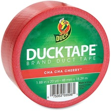 """Duck Colour Duct Tape - 20 yd (18.3 m) Length x 1.88"""" (47.8 mm) Width - 9 mil (0.23 mm) Thickness - 3"""" Core - Rubber Backing - 1 Each - Red"""