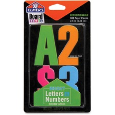 "Elmer's Bright Letters Numbers and Symbols Stickers - Self-adhesive - Repositionable, Reusable - 4"" (101.6 mm) Length - Bright - 1 Each"