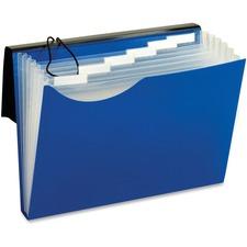 "Pendaflex Letter Expanding File - 8 1/2"" x 11"" - 7 Pocket(s) - Polyurethane - Blue - 1 Each"