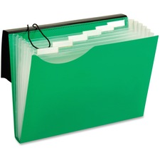 """Pendaflex Letter Expanding File - 8 1/2"""" x 11"""" - 7 Pocket(s) - Polyurethane - Green - 1 Each"""