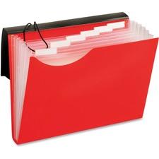 "Pendaflex Letter Expanding File - 8 1/2"" x 11"" - 7 Pocket(s) - Polyurethane - Red - 1 Each"