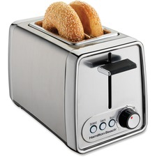 Hamilton Beach Extra-wide 2-slice Toaster - Toast, Bagel - Chrome