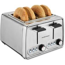Hamilton Beach Extra-wide 4-slice Toaster - Toast, Bagel - Chrome