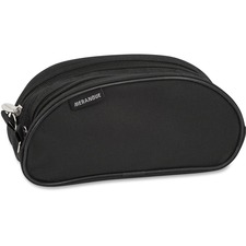 "Merangue Carrying Case (Pouch) Pencil, Electronic Equipment - Black - 420D Nylon - 5"" (127 mm) Height x 9"" (228.60 mm) Width x 3"" (76.20 mm) Depth - 1 Pack"
