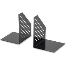 """Merangue Bookend - 6.3"""" Height x 5.1"""" Width x 4.1"""" Depth - Black - Steel - 2 / Pair"""