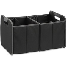 "Merangue Fully Collapsible Storage Bins - Internal Dimensions: 12"" (304.80 mm) Width x 19"" (482.60 mm) Depth x 10.50"" (266.70 mm) Height - External Dimensions: 12.8"" Width x 19.5"" Depth x 11.5"" Height - Vinyl, Nylon - Black - For Folder, File - 1 Each"