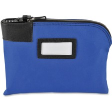 """MMF Currency Bag - 11"""" (279.40 mm) Width x 8.50"""" (215.90 mm) Length - Blue - Vinyl - 1Each - Currency"""