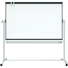 """Quartet Prestige 2 Large Magnetic Whiteboard Easel - 72"""" (6 ft) Width x 48"""" (4 ft) Height - White Steel Surface - Rectangle - Portable - 1 Each"""
