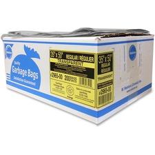 "Ralston Regular-Strength Industrial Trash Bags - 35"" (889 mm) Width x 50"" (1270 mm) Length - Clear - Hexene Resin - 125/Carton - Industrial, Garbage"