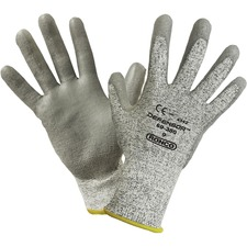 RONCO DEFENSOR Palm Coated HPPE Gloves - 9 Size Number - Large Size - High Performance Polyethylene (HPPE), Polyurethane Palm Pad - Gray - Cut Resistant, Snag Resistant, Scrape Resistant, Abrasion Resistant, Tear Resistant, Puncture Resistant, Comfortable, Machine Washable, Breathable, Flexible - For Assembling, Carpentry, Warehouse, Construction, Material Handling, Shipping, Metal Fabrication, Power Tool Handling, Cable Handling, HVAC Operation - 6 / Box