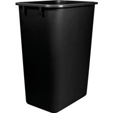 Storex Washable 41qt Plastic Waste Basket - 38.80 L Capacity - Plastic - Black - 1 Each