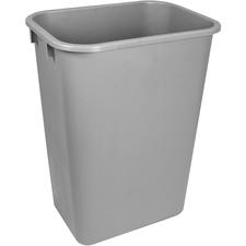 Storex Washable 41qt Plastic Waste Basket - 38.80 L Capacity - Plastic - Gray - 1 Each