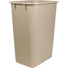 "Storex Washable 28qt Plastic Waste Basket - 26.50 L Capacity - 15"" Height x 14.2"" Width x 10.3"" Depth - Plastic - Gray - 1 Each"