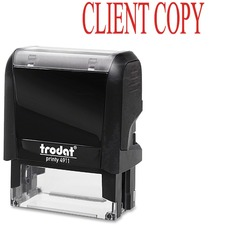 """Trodat Self-inking Client Copy Stamp - Message Stamp - """"CLIENT COPY"""" - Red - 1 Each"""