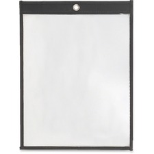 "Filemode Hang-up Sheet Holders - 1 Each - 9"" (228.60 mm) Width x 12"" (304.80 mm) Height - 8.50"" (215.90 mm) Holding Width x 11"" (279.40 mm) Holding Height - Rectangular Shape - Translucent, PVC-free, Recyclable - Leatherette, Polypropylene - Clear"