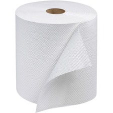 """Essity Advanced Hand Towel Roll - 1 Ply - 8"""" x 600 ft - 8"""" (203.20 mm) Roll Diameter - White - Fiber - Soft, Strong, Absorbent, Long Lasting, Embossed - For Hand - 12 / Carton"""