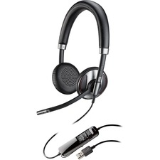 Plantronics Blackwire 725-M USB Headset with Active Noise Canceling Certified for Skype for Business and Optimized for Microsoft Lync
