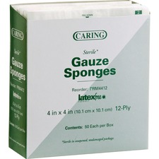MII PRM4412CT Medline Sterile Gauze Sponges MIIPRM4412CT