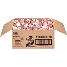 Coffee mate Liquid Creamer Tub Singles, Gluten-Free - Original Flavor - 0.38 fl oz (11 mL) - 180/Carton - 180 Serving