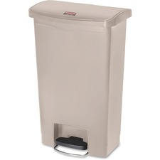 Rubbermaid Commercial Slim Jim 13g Front Step Container 13 Gal Capacity 28 3 Height