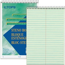 TOP 8021DZ Tops Green Tint Steno Books TOP8021DZ