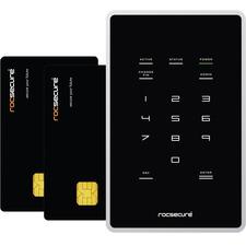 "Rocstor Amphibious X7 1 TB 2.5"" External Hard Drive - USB 2.0, FireWire/i.LINK 800 - SATA - 5400 rpm - 256-bit Hardware Encryption Standard Portable - Black"