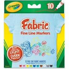 CYO 588626 Crayola Bright Fabric Markers CYO588626