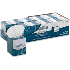 "Angel Soft PS Facial Tissue Cube - 2 Ply - 96 Sheets Per Box - 10 / Carton - 7.60"" x 8.50"" - White"