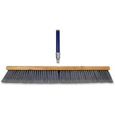 """Genuine Joe Floor Sweep - 24"""" (609.60 mm) Handle Width - 60"""" (1524 mm) Handle Length - Metal Handle - 1 Each - Gray"""
