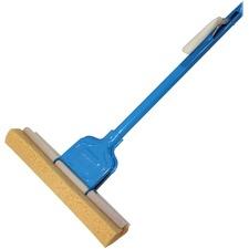 "Genuine Joe Roller Sponge Mop - 12"" (304.80 mm) Head - Absorbent, Durable - Blue"