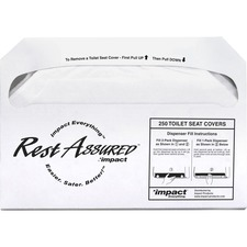 Genuine Joe Toilet Seat Covers - Half-fold - 250 / Pack - 5000 / Carton - White