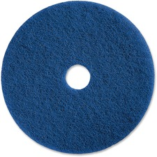 "Genuine Joe 20"" Medium-duty Blue Scrubbing Floor Pad"