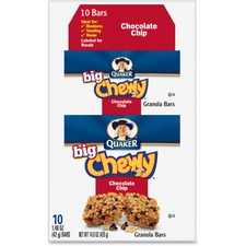 QKR 31565 Quaker Foods Chocolate Chip Big Chewy Granola Bar QKR31565